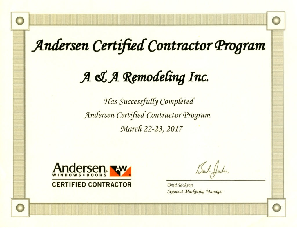 Certification certification andersen generic x 1betcityfo Choice Image
